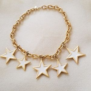 Premier Designs Spangle Cream Enamel Star Choker